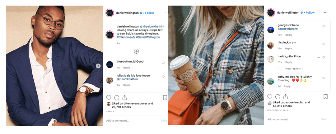 Daniel wellington - product positioning example